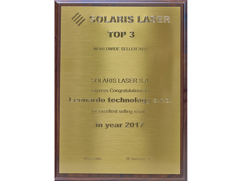 TOP 3 SOLARIS LASER WORLDWIDE SELLER 2017